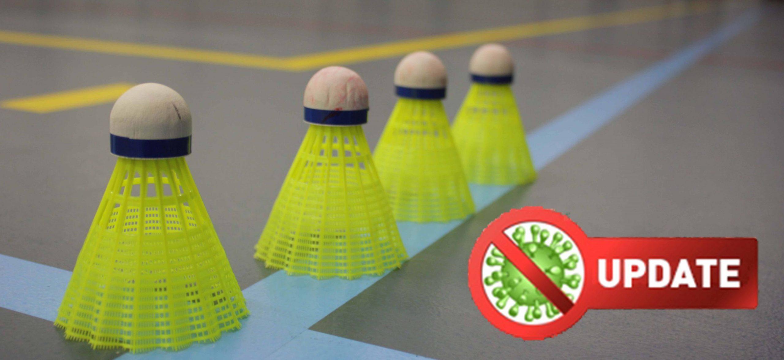 Versoepelingen voor badminton           vanaf 5 juni